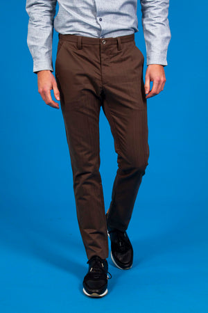 Pantalon Homme Chino Marron Coton | Misericordia - Boutique Officielle