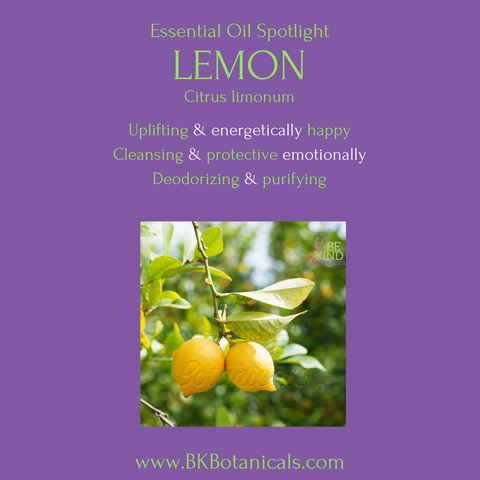 Lemon Essential Oil - Be Kind Botanicals