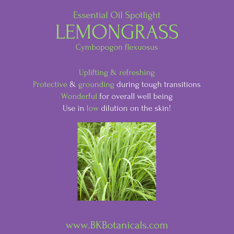 Lemongrass Essential Oil - Be Kind Botanicals