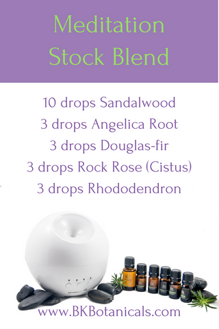 Essential Oil Meditation Blend Recipe - Be Kind Botanicals