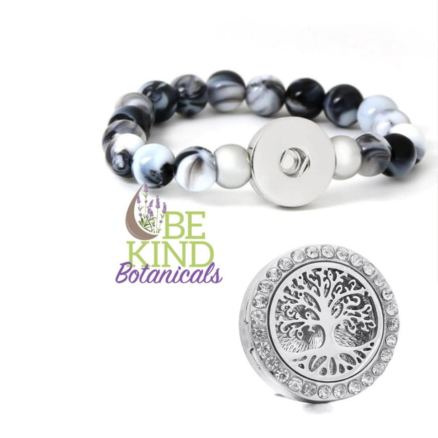Tree of life essential oil snap bracelet