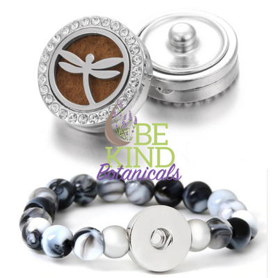 Essential Oil Snap On Bracelet Pendant - Be Kind Botanicals