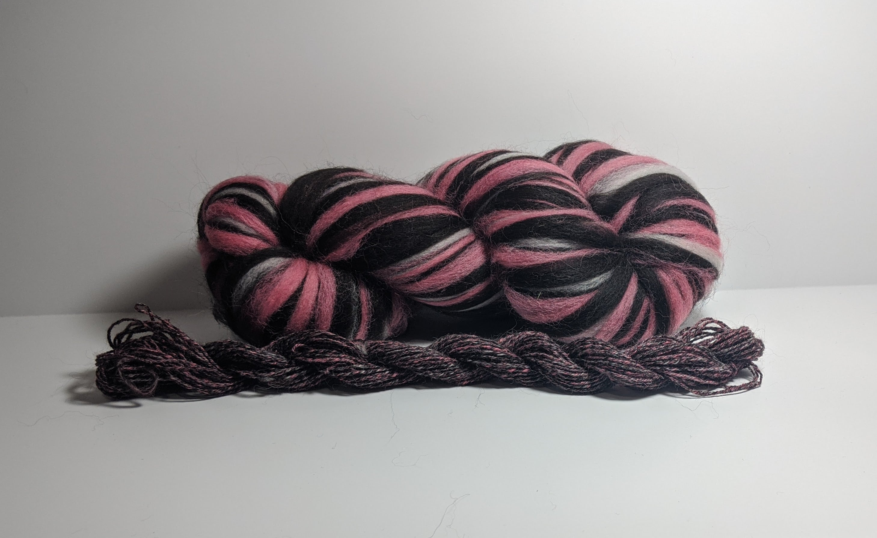 Strawberry Coconut Candy Roving Variety 1