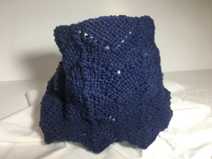 Denim Blue Handknit Cowl
