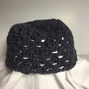 Crocheted Glitzy Plum Beanies