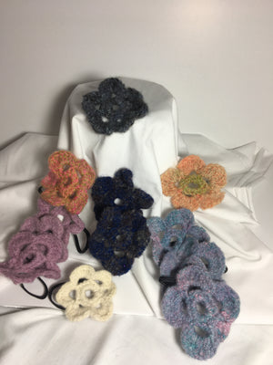 Hand Crocheted pony ties