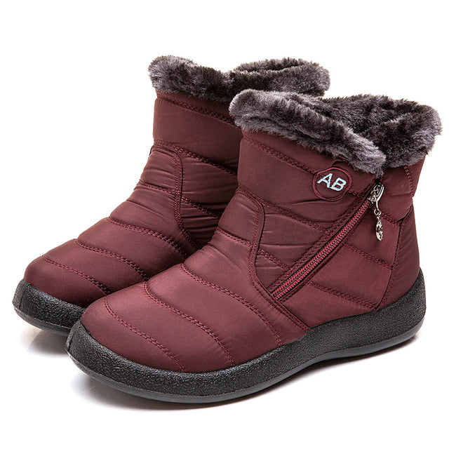 Women Boots - New Waterproof Snow Boots For Winter Shoes Women Casual Lightweight