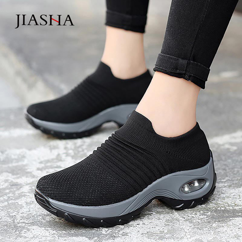 New breathable mesh sneakers women shoes