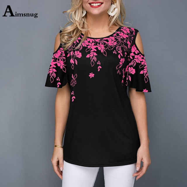 Women Female T-Shirt Loose Casual Ladies