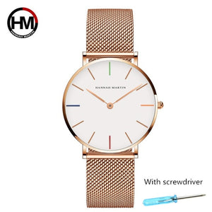 Watch Stainless Steel Rose Gold Waterproof