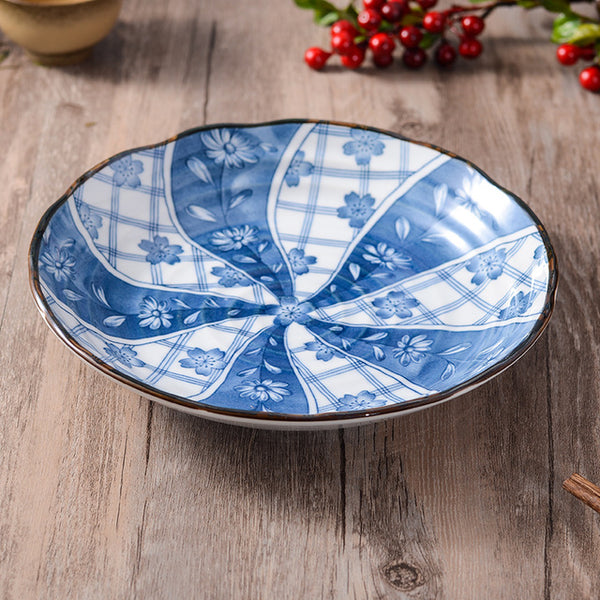 bella blue and white Japanese style porcelain plate - Good Joan Home