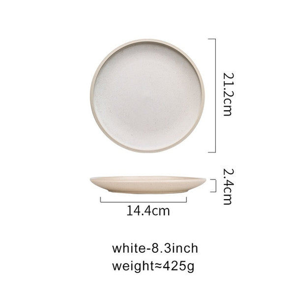ella matt ceramic dinner plates - Good Joan Home
