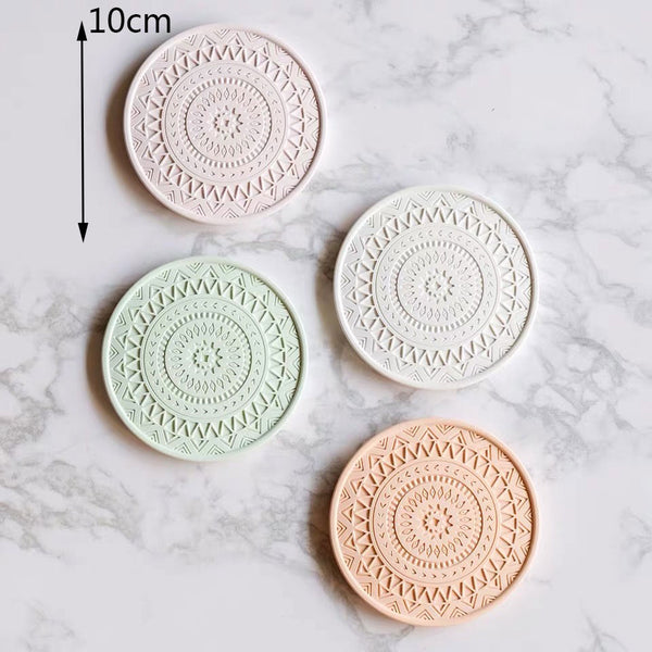 pili tribal pattern eco silicone coaster pack - Good Joan Home