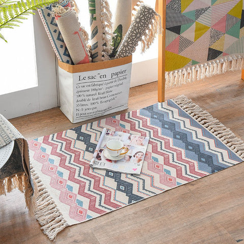 noah nordic soft cotton accent rug - multi - Good Joan Home