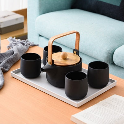 natie nordic ceramic tea set - Good Joan Home