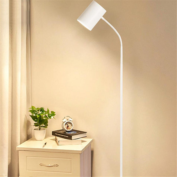 lola white iron floor lamp - Good Joan Home