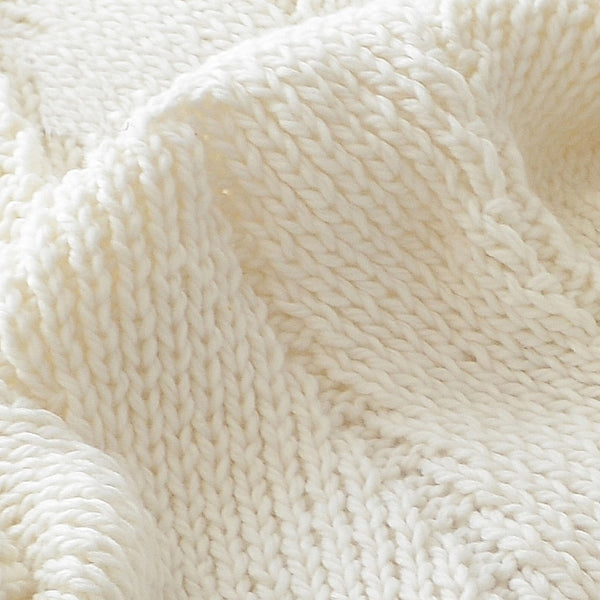 iceland knitted pompon blanket - Good Joan Home