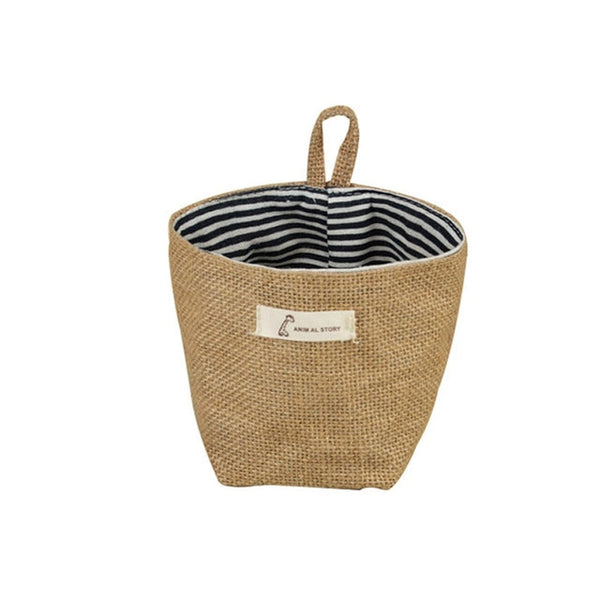 hollie hanging mini cotton linen basket - Good Joan Home
