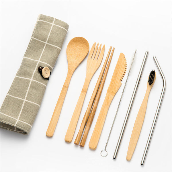 bami bamboo tableware portable set - Good Joan Home