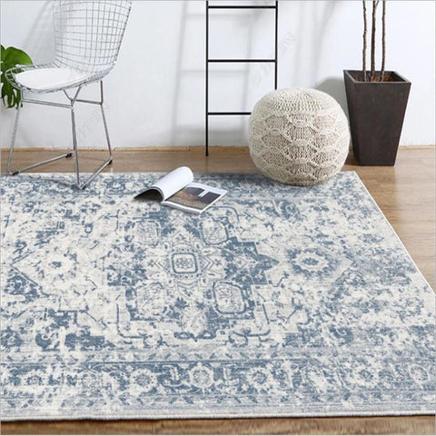 palma blue vintage Persian rug - Good Joan Home