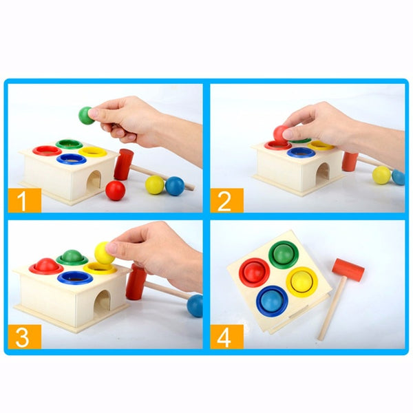 Wooden Hammer Ball Box Eco Playing Set