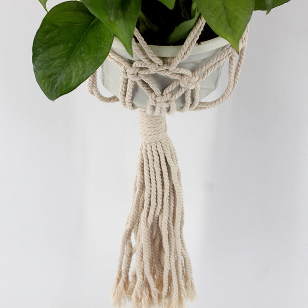 noelia Nordic style hand-woven plant hanging basket - Good Joan Home
