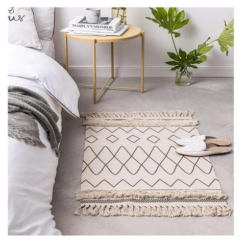 meknes moroccan cotton hand woven accent rug - roald dahl - Good Joan Home