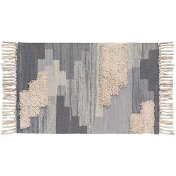 kilim 100% cotton multi textured rug - Good Joan Home