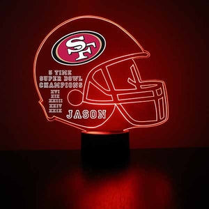 San Francisco 49ers Football LED Sports Sign