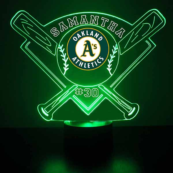 Oakland Athletics Baseball LED Light Sports Sign