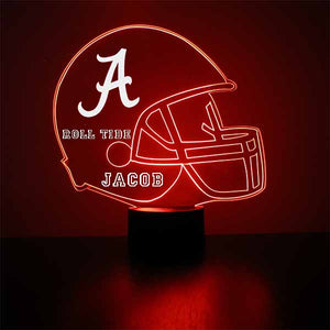 Alabama Crimson Tide Helmet LED Sports Sign