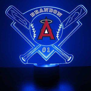 Anaheim Angels Baseball LED Light Sports Sign