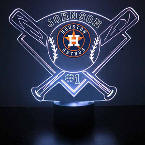 Houston Astros Baseball LED Light Sports Sign