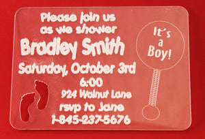 Baby Feet Invitation