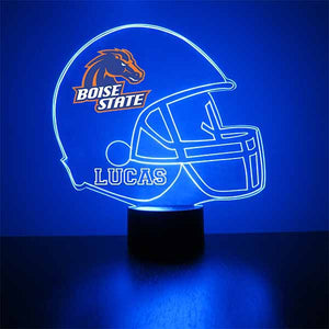 Boise State Helmet LED Light Sports Sign
