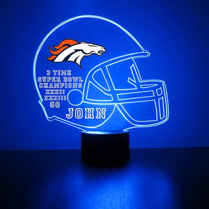 Denver Broncos Football LED Sports Sign