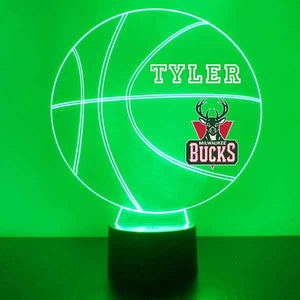 Milwaukee Bucks Basketball LED Light Sports Sign