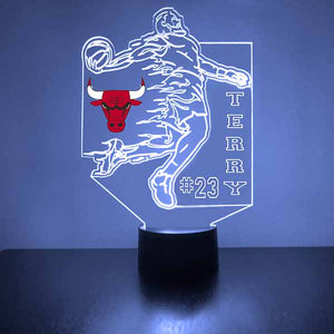 Chicago Bulls Basketball Player LED Light Sports Sign