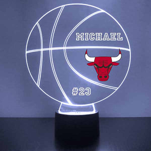 Chicago Bulls Basketball LED Light Sports Sign