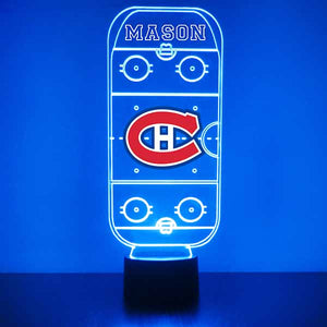 Montreal Canadiens Hockey Rink LED Sports Lamp