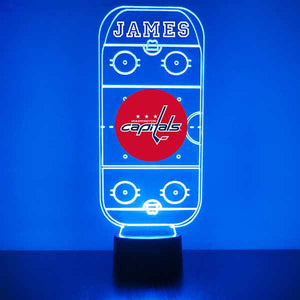 Washington Capitals Hockey Rink LED Sports Lamp