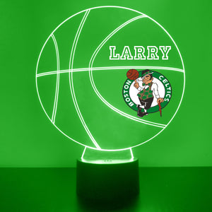 Boston Celtics Basketball LED Night Light