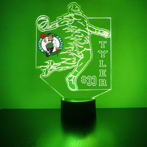 Boston Celtics Basketball Player LED Night Light