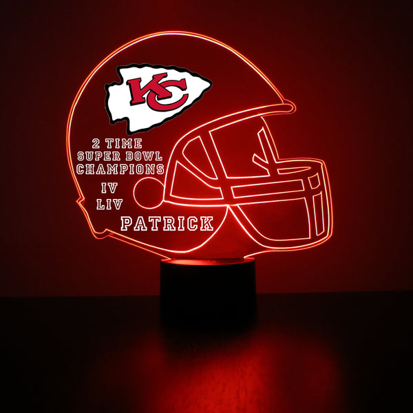 Kansas City Chiefs Football LED Sports Sign