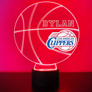 Los Angeles Clippers Basketball LED Light Sports Sign
