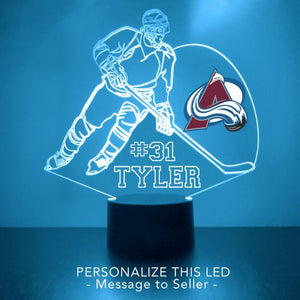 Colorado Avalanche Hockey Player LED Sports Sign