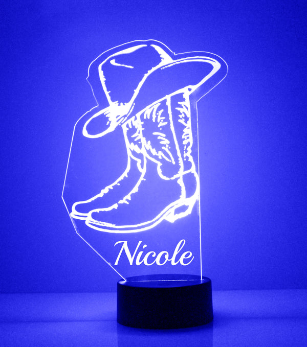 Cowboy Boots LED Night Light