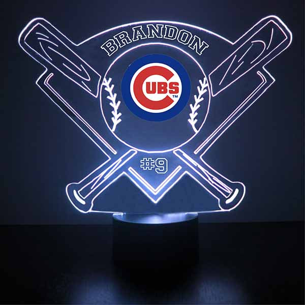 Chicago Cubs Baseball LED Light Sports Sign