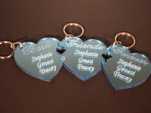 Triple Best Friends Forever Key Chain