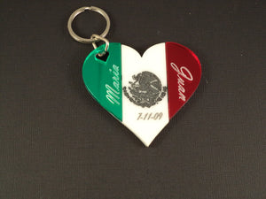 Mexican Heart Key Chain